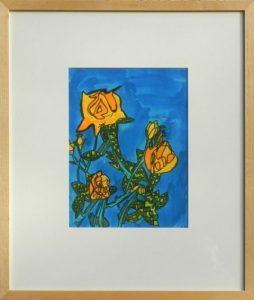 geel oranje rozenstruik